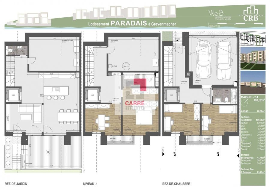 acheter maison jumelée 5 chambres 190.82 m² grevenmacher photo 4
