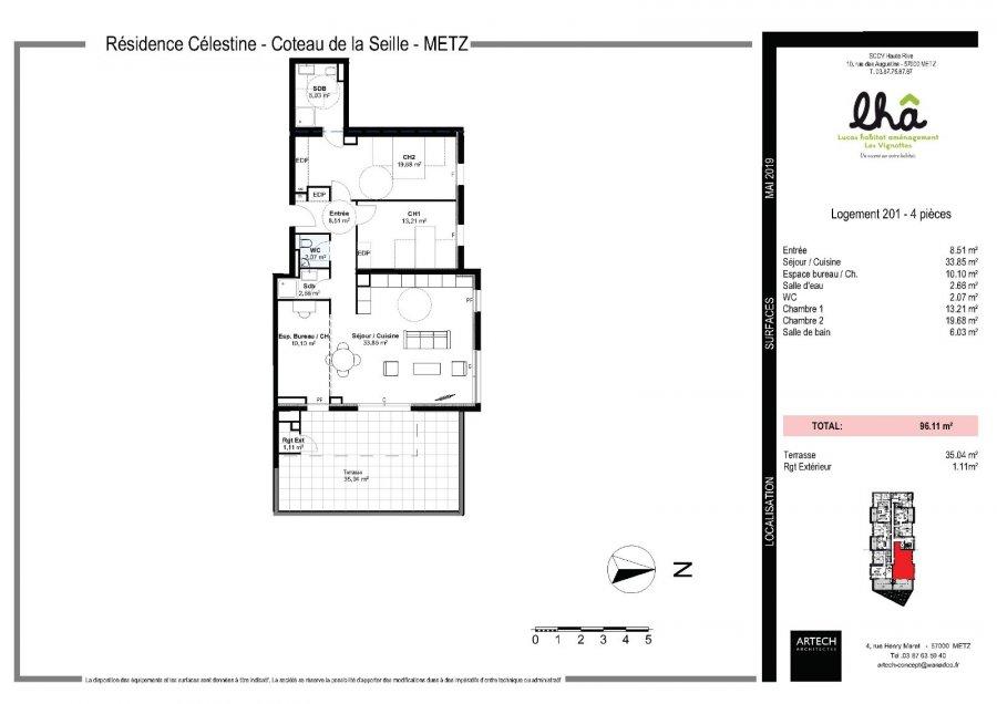 acheter appartement 4 pièces 96.11 m² metz photo 3