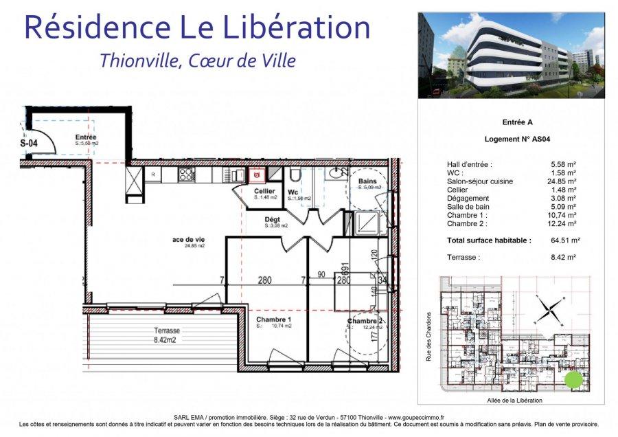 acheter appartement 3 pièces 64.51 m² thionville photo 2