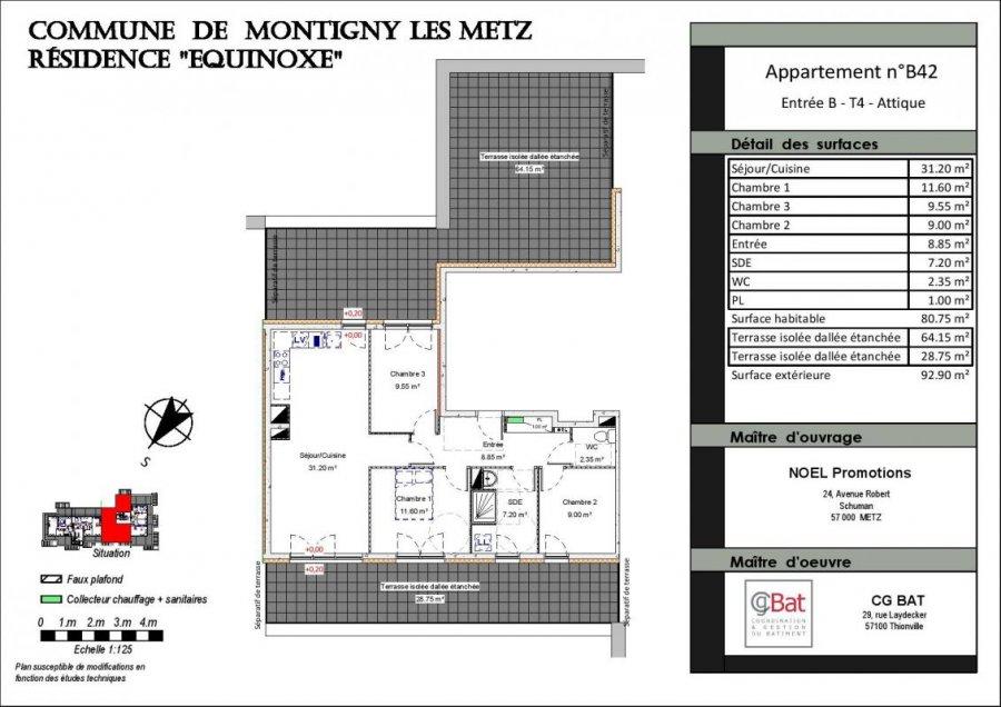 acheter appartement 4 pièces 80 m² montigny-lès-metz photo 1