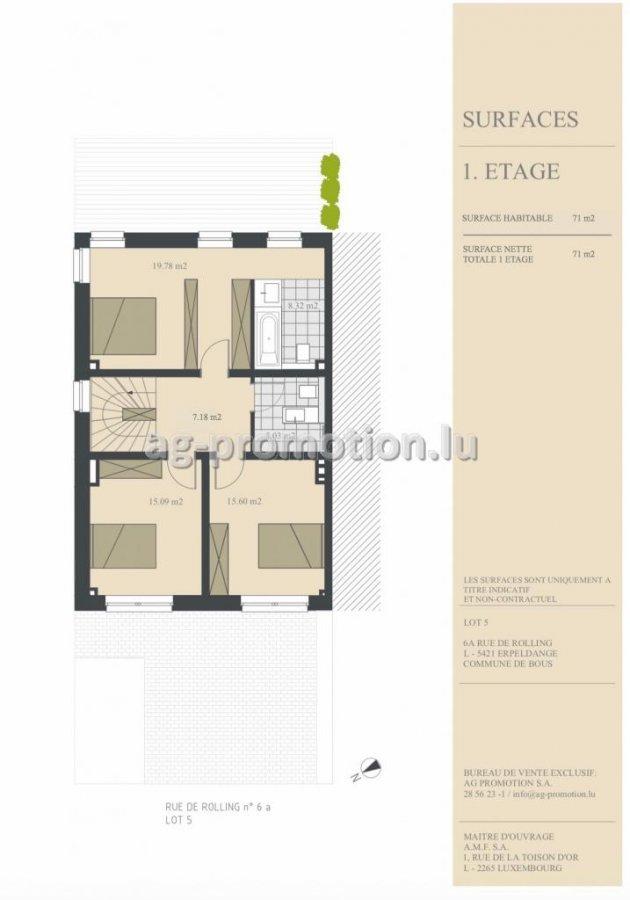 einfamilienhaus kaufen 4 schlafzimmer 182.15 m² erpeldange (bous) foto 3