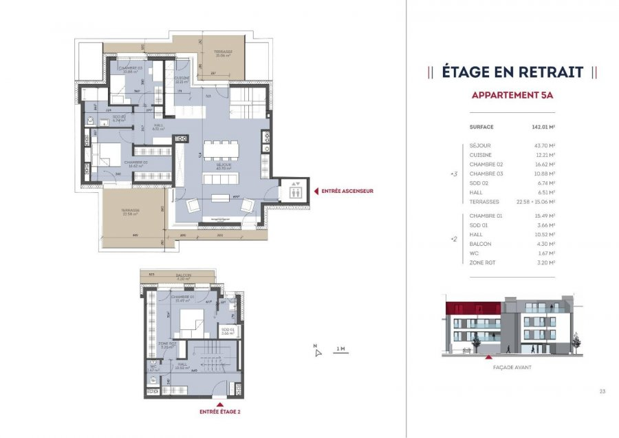 acheter appartement 3 chambres 142.01 m² kayl photo 3