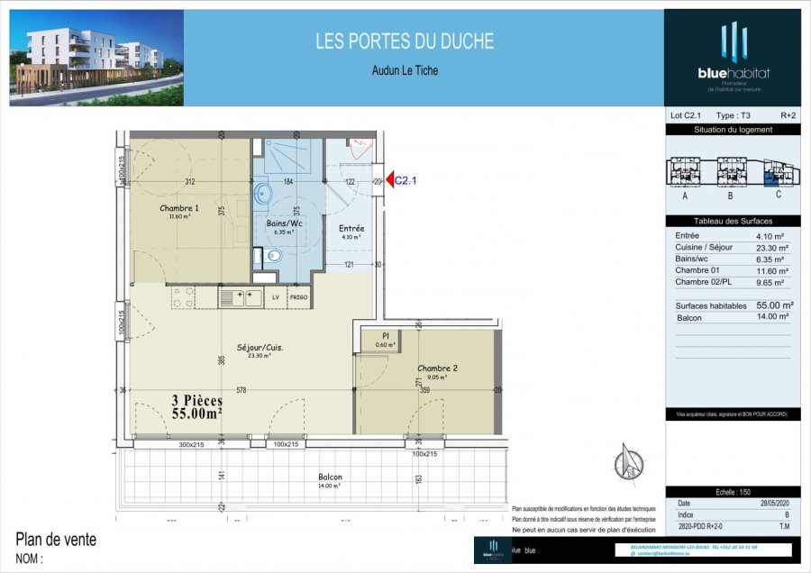 acheter appartement 0 pièce 55 m² audun-le-tiche photo 1