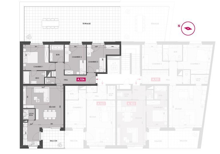 acheter appartement 3 chambres 101.93 m² hesperange photo 3