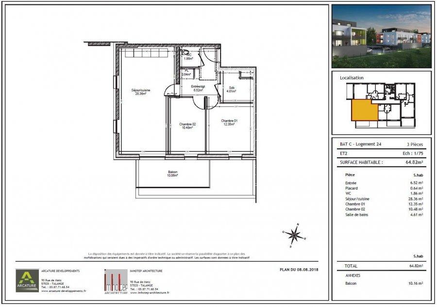 acheter appartement 3 pièces 64.82 m² audun-le-tiche photo 1