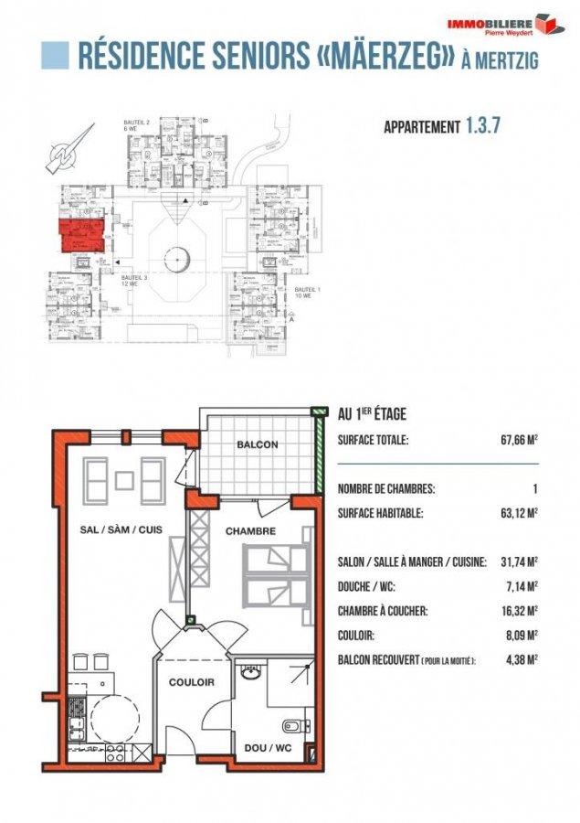 louer appartement 1 chambre 63.28 m² mertzig photo 4