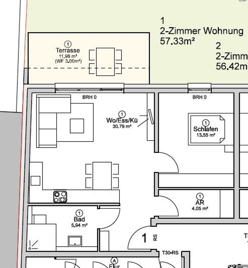 acheter appartement 2 pièces 57.33 m² völklingen photo 6