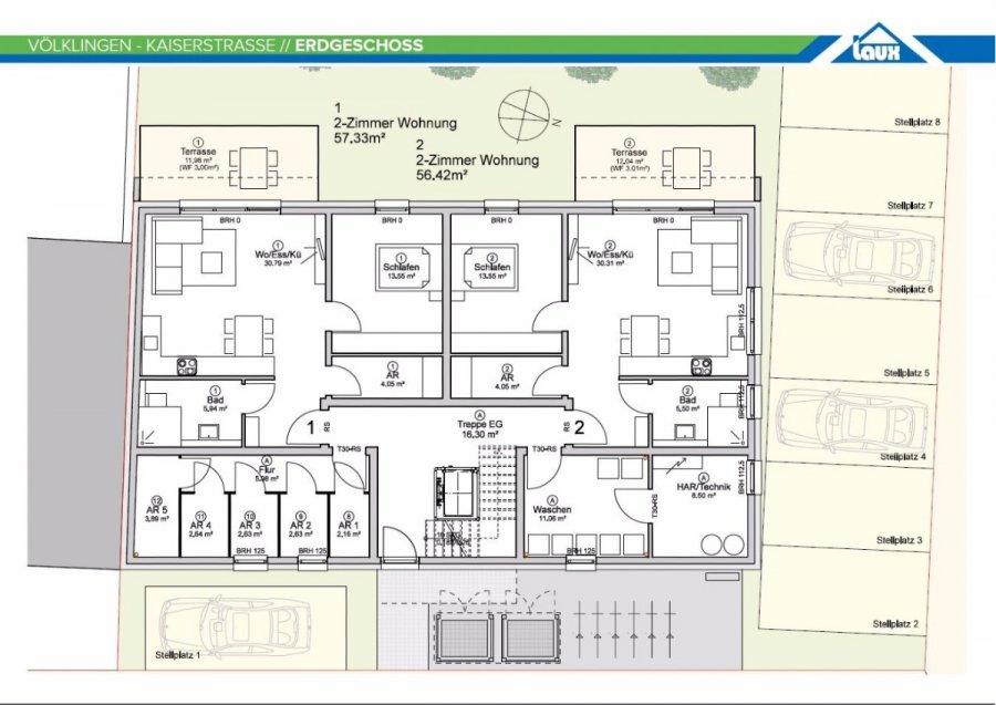 acheter appartement 2 pièces 57.33 m² völklingen photo 7