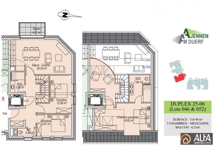 acheter duplex 3 chambres 116.49 m² moutfort photo 5