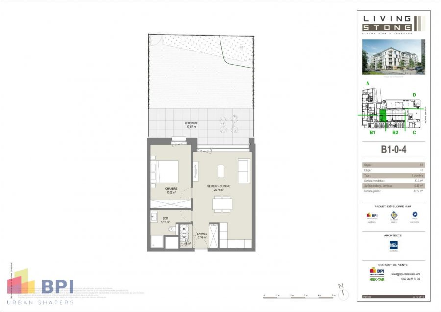 acheter appartement 1 chambre 57.33 m² luxembourg photo 2