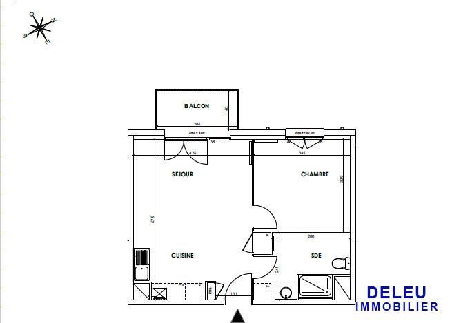 acheter appartement 2 pièces 43 m² saint-andré-lez-lille photo 2