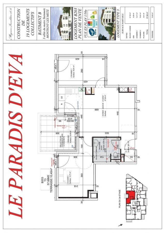 acheter appartement 3 pièces 57.68 m² montigny-lès-metz photo 3