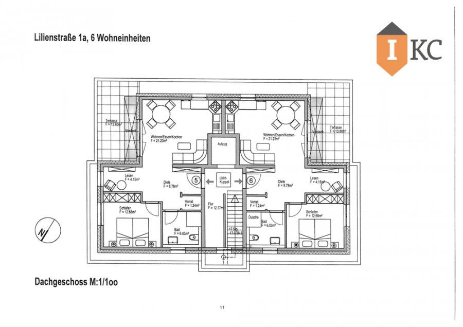 wohnung kaufen 3 zimmer 96.79 m² losheim foto 4