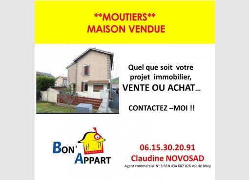 Maison à vendre F4 à Moutiers (FR) - Réf. 7191733
