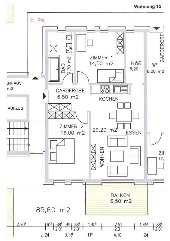 acheter appartement 3 pièces 86.08 m² trier photo 3