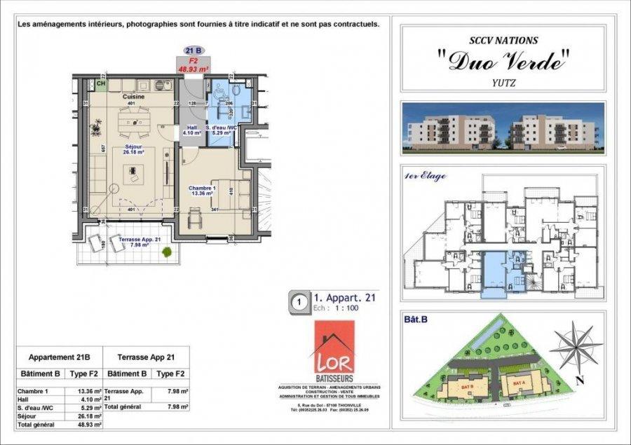acheter appartement 2 pièces 48.93 m² yutz photo 4