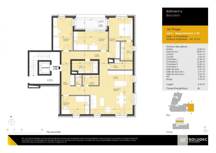 wohnung kaufen 4 schlafzimmer 141.19 m² berchem foto 1