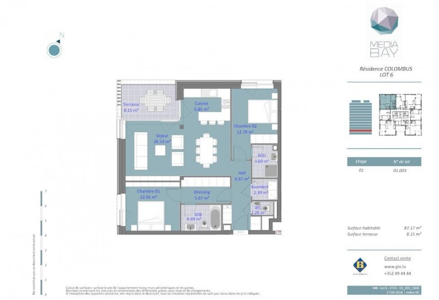 acheter appartement 2 chambres 87.17 m² luxembourg photo 4