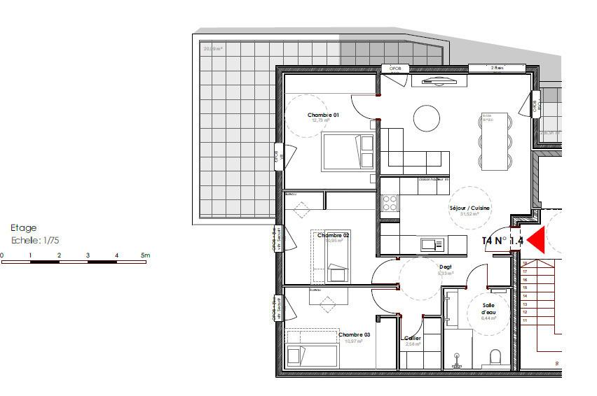 acheter maison jumelée 5 pièces 98 m² augny photo 7