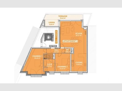 Appartement à vendre 2 Chambres à Mondorf-Les-Bains - Réf. 4827349