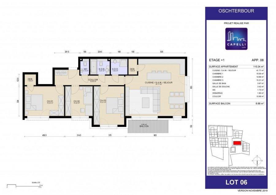 acheter appartement 3 chambres 110.24 m² differdange photo 6