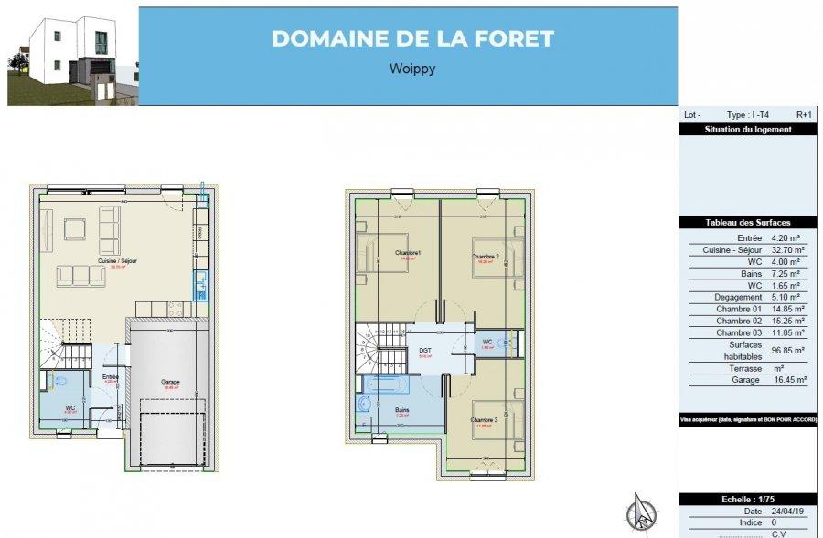 acheter maison 4 pièces 96.85 m² woippy photo 3