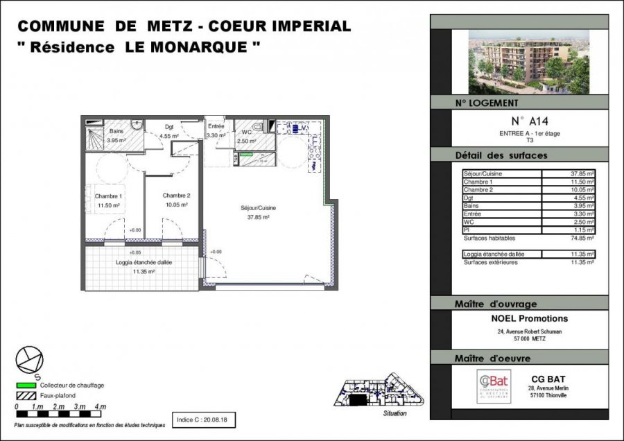 acheter appartement 3 pièces 75 m² metz photo 1