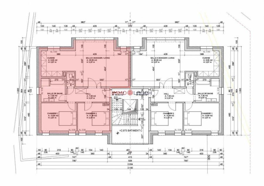 Appartement à louer 2 chambres à Oetrange