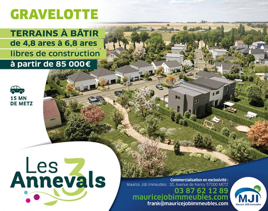 Terrain constructible à vendre à Gravelotte