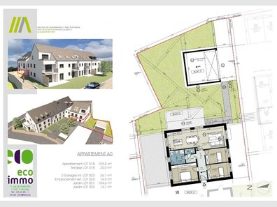 Appartement à vendre 3 Chambres à Buschdorf - Réf. 6135797