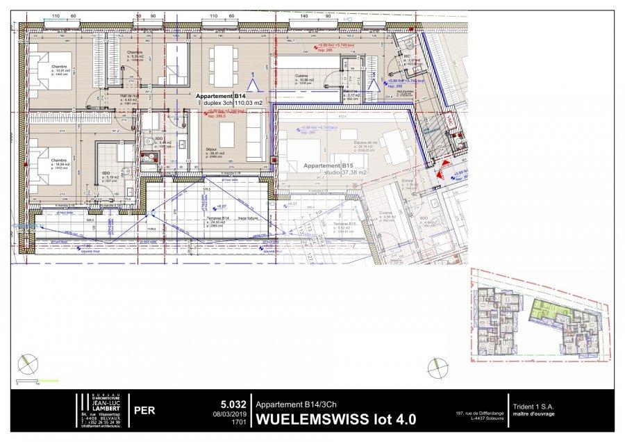 acheter appartement 3 chambres 109.94 m² differdange photo 2