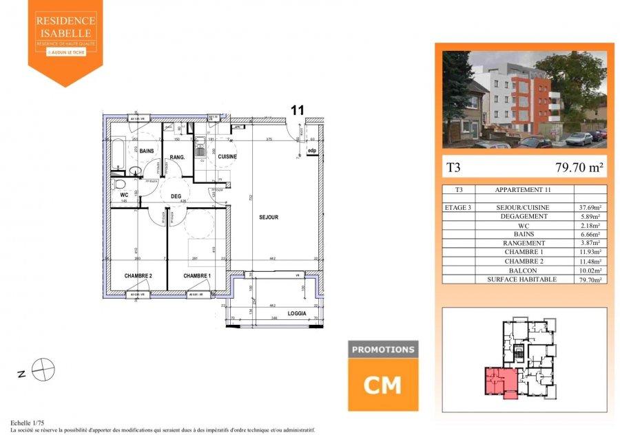 acheter appartement 0 pièce 79.79 m² audun-le-tiche photo 3