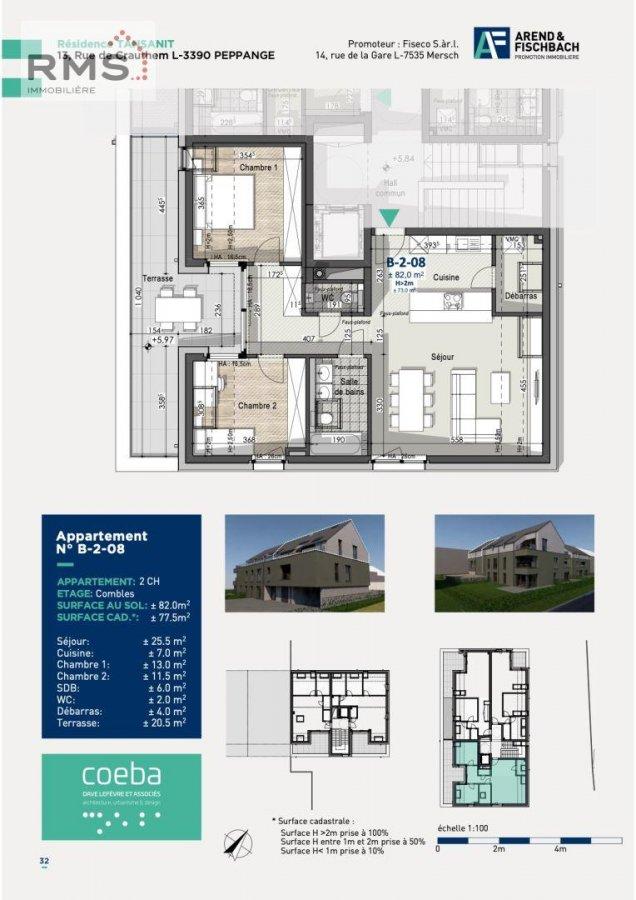 acheter appartement 2 chambres 77.48 m² peppange photo 4