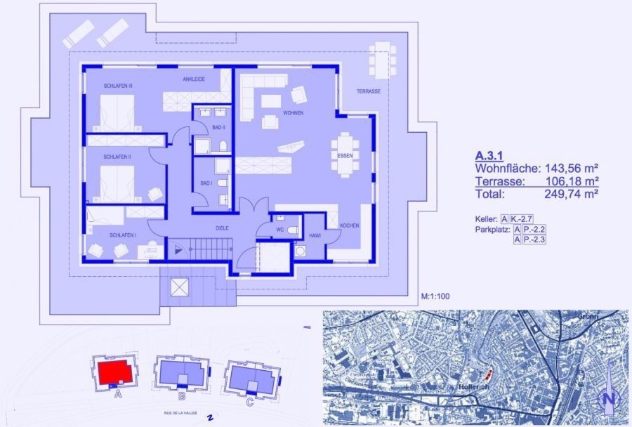 acheter penthouse 3 chambres 177 m² luxembourg photo 3