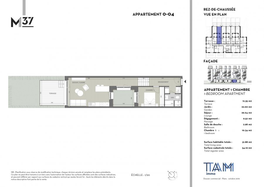 acheter appartement 1 chambre 51.88 m² luxembourg photo 1