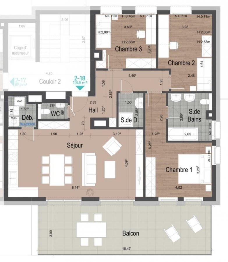 acheter appartement 3 chambres 104.6 m² clervaux photo 1