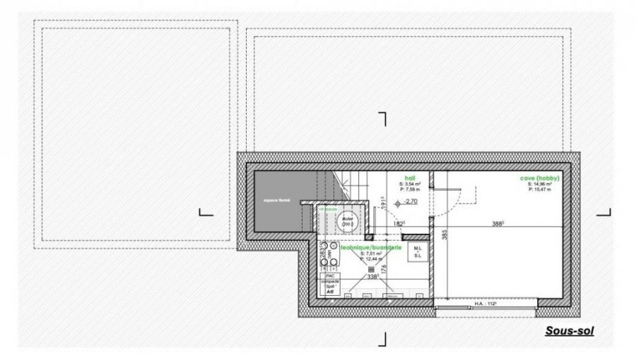 acheter maison mitoyenne 3 chambres 141 m² berbourg photo 3