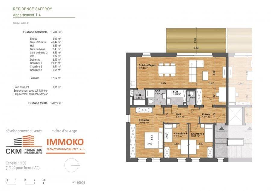 wohnung kaufen 3 schlafzimmer 104.09 m² beaufort foto 3
