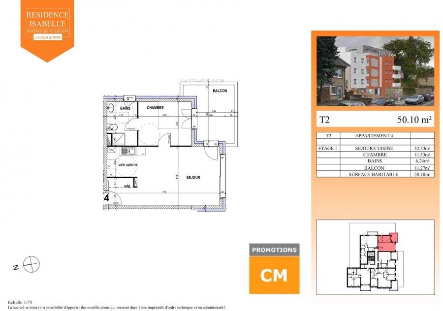 acheter appartement 0 pièce 50.1 m² audun-le-tiche photo 3