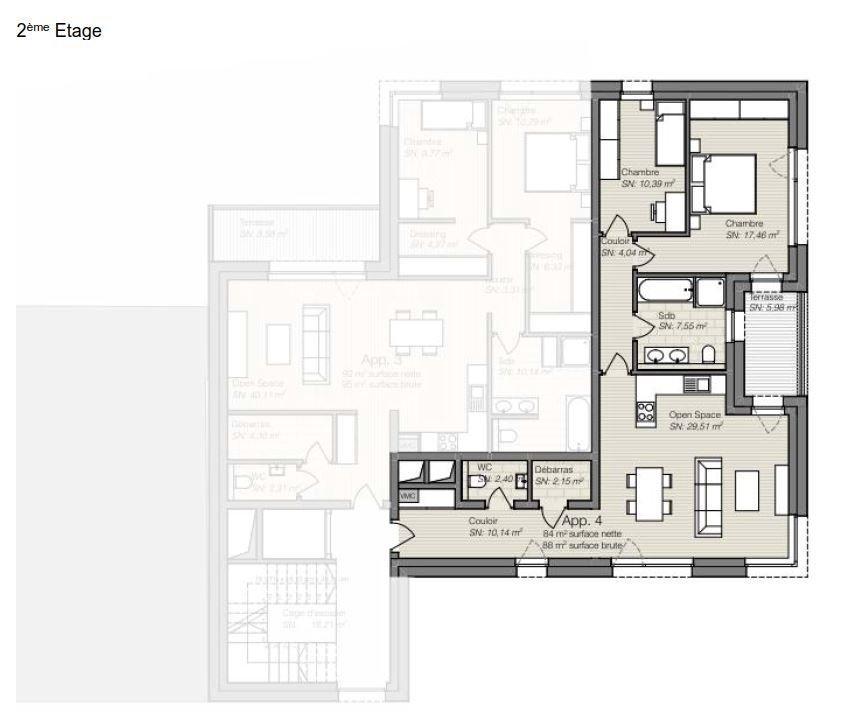 wohnung kaufen 2 schlafzimmer 85.61 m² differdange foto 2