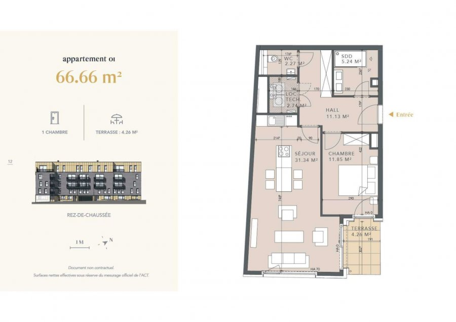 acheter appartement 1 chambre 66.66 m² luxembourg photo 4