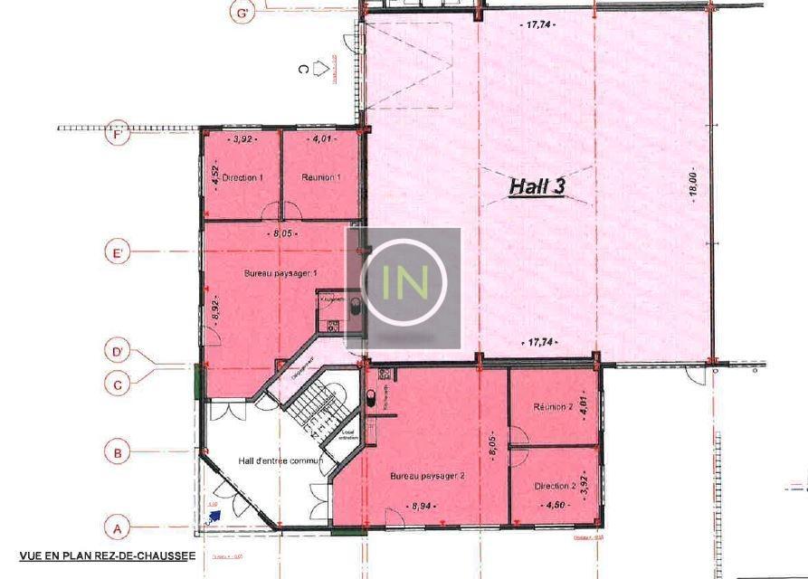 louer bureau 0 chambre 130.1 m² bascharage photo 3