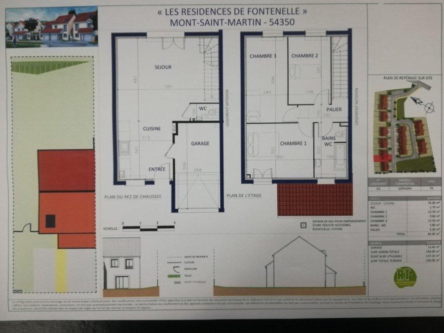 acheter maison jumelée 4 pièces 80.1 m² mont-saint-martin photo 1