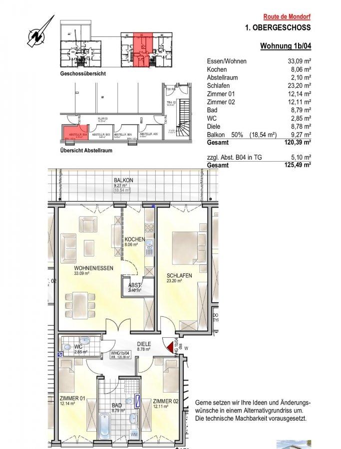 wohnung kaufen 3 schlafzimmer 120.39 m² remich foto 2