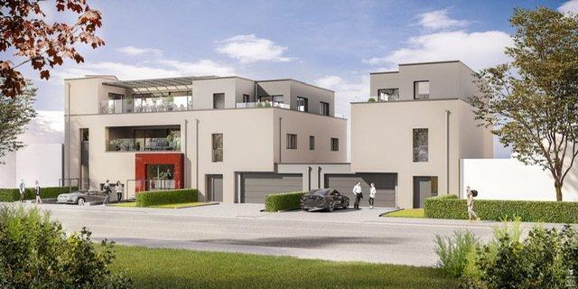 Magnifique maison unifamiliale avec piscine, livrée clé en main, rue de la Continentale à Bascharage, comprenant :   Rez-de-chaussée :  - Grand garage pour deux voitures de 38,22m2 (+ emplacement pour deux voitures devant l'entrée de garage), - Hall d'entrée (7,82m2) - Séjour / Cuisine (49,11m2) - Terrasse (20m2) - Jardin (298,33m2) - WC séparée (1,78m2)  1er étage :  - Hall de nuit (7,76m2) - 3 chambres à coucher (16,20m2 -16,22m2 – 16,69m2) - Buanderie (4,55m2) - 2 salles de bains ( 8,20m2 – 9,39m2)  Combles aménageable de 48,58m2 - Pièce technique  - Terrasse (7,56m2) - Terrasse (11,77m2)  - Prix : 1.447.366.-€ TTC 17 % ( TVA récupérable par remboursement : max.50.000,00 €, sous réserve de l'autorisation de l'Enregistrement et des Domaines ).  Nous vous invitons à nous contacter; Tèl: +35227291363  Les surfaces et superficies sont indicatives