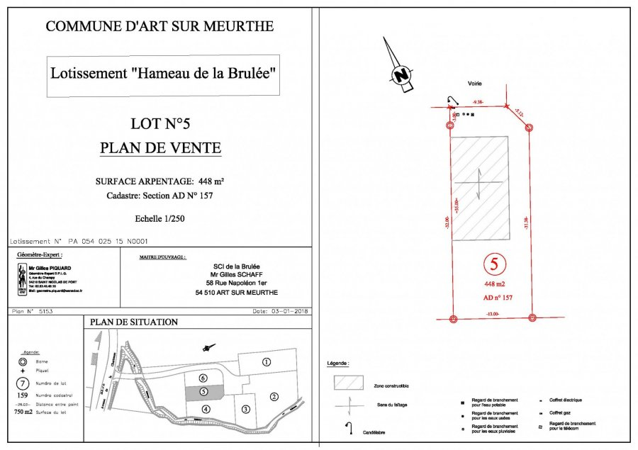 acheter terrain constructible 0 pièce 0 m² art-sur-meurthe photo 2