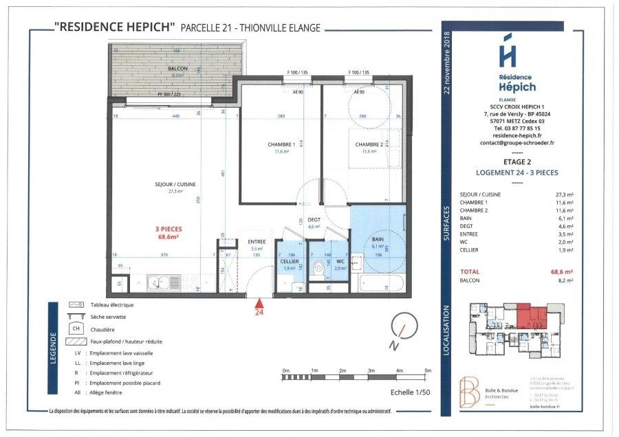 acheter appartement 3 pièces 68.6 m² thionville photo 1