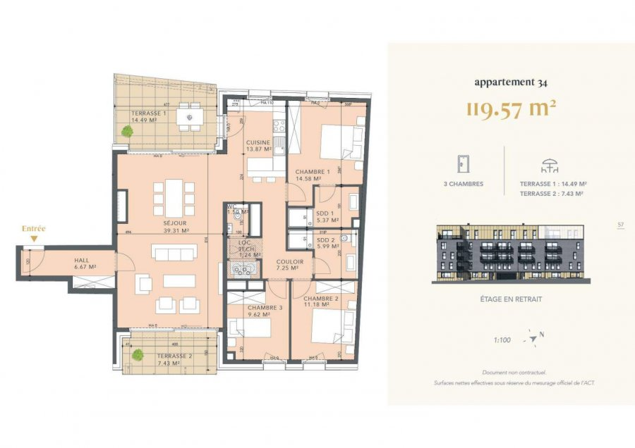 acheter appartement 3 chambres 119.57 m² luxembourg photo 4