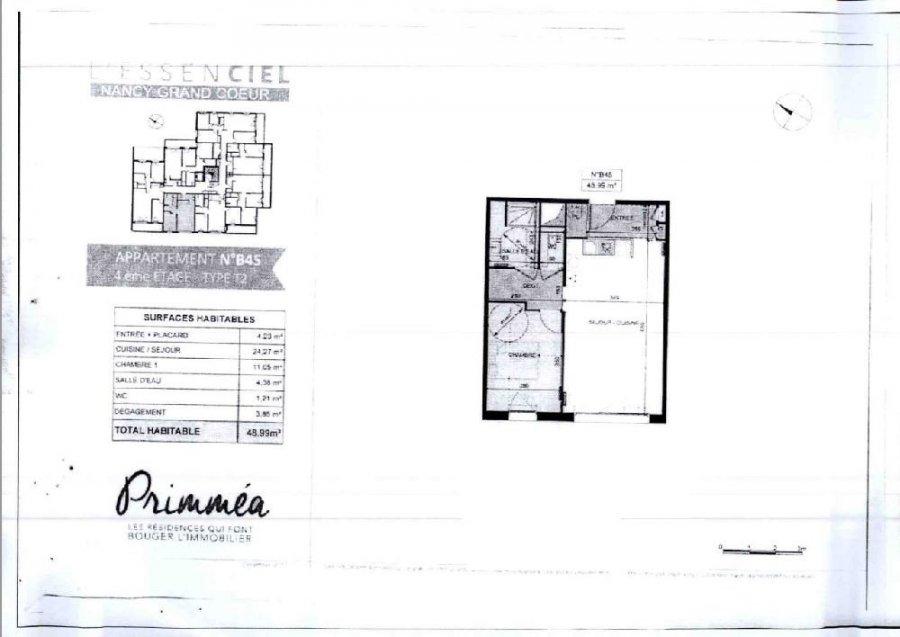 louer appartement 2 pièces 48.99 m² nancy photo 2