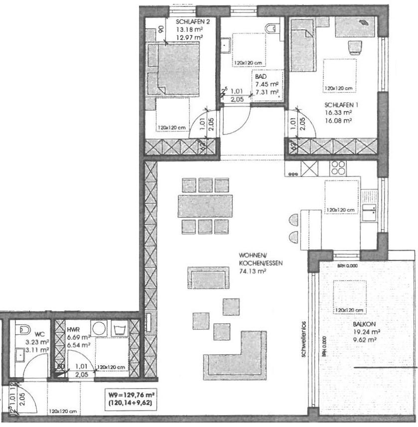 wohnung kaufen 3 zimmer 129.76 m² merzig foto 2
